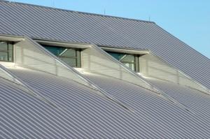Пример крыши из алюминия