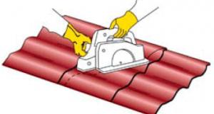 Схема резки листа металлочерепицы