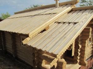 Пример крыши из теса