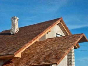 Пример крыши из дерева