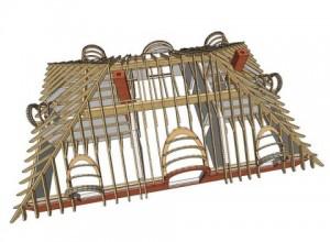 Схема устройства крыши из дерева