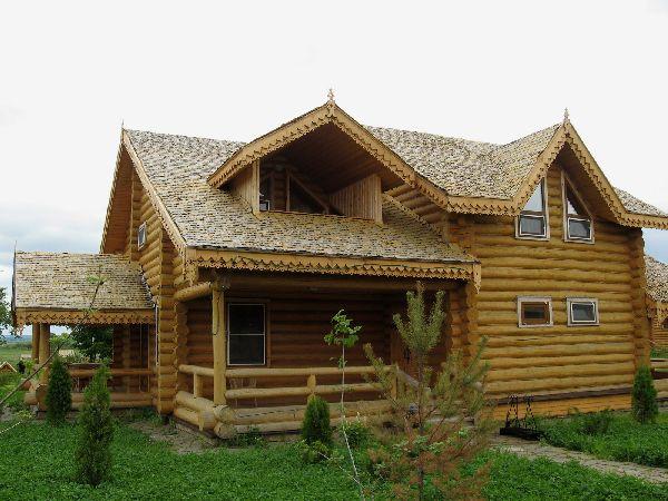 Пример дранки на крыше дома