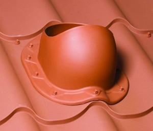 Вентиляционный выход крыши из металлочерепицы