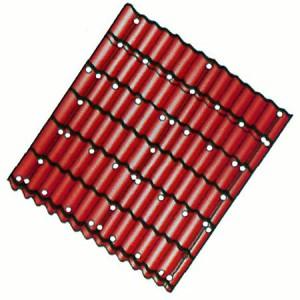 Места крепления листов металлочерепицы