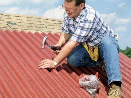 Самостоятельный монтаж ондулина на крышу дома