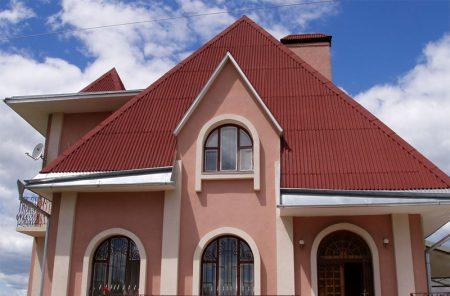 Крыша покрытая керамопластом