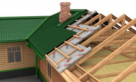 Схема укладки ондулина на крышу дома
