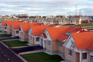Крыши домов покрытые черепицей