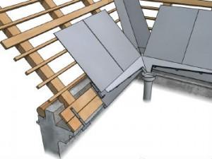 Пример укладки железа на крышу