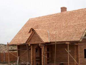 Крыша покрытая деревом