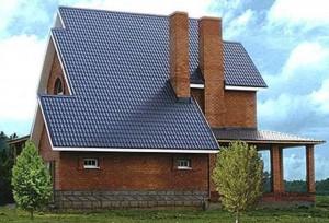 Готовая крыша из металлочерепицы