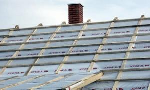 Выполненная гидроизоляция крыши