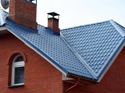 Пример металлочерепичной крыши