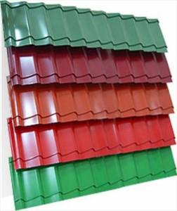 Популярные цвета листов металлочерепицы