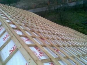 Пример обрешетки крыши под металлочерепицу