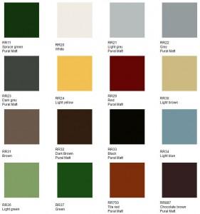 Цветовая гамма металлочерепицы