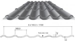 Технические характеристики листа металлочерепицы