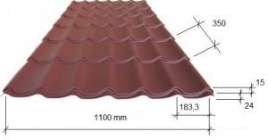 Размеры листа металлочерепицы