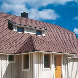 Покрытие крыши мягкой черепицей