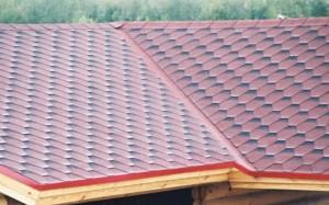 Пример мягкой кровли крыши