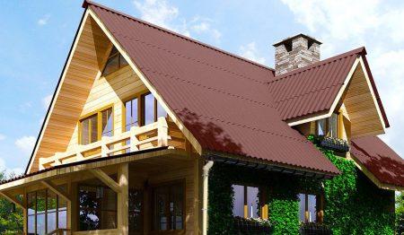Крыша покрытая ондулином