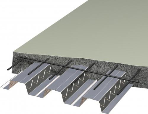 Заливка бетона на основание из профнастила