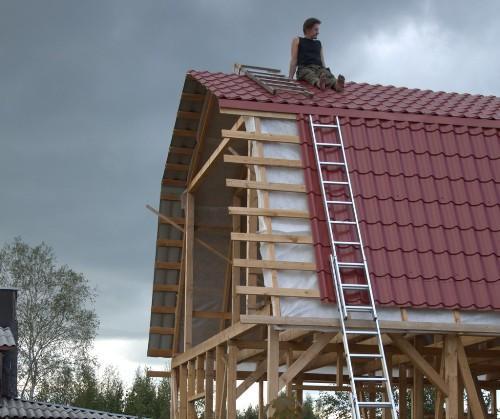 Как сделать крышу металлочерепицей видео фото 706