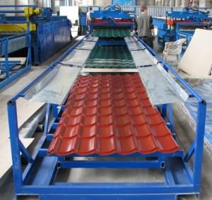 Установка для производства листовой металлочерепицы