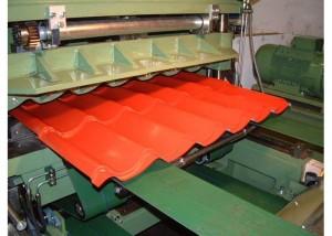 Современная установка для изготовления листов металлочерепицы