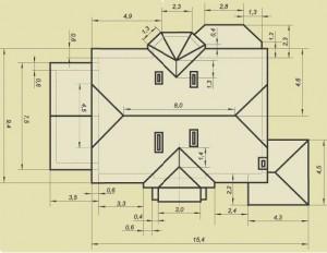 Схема крыши для расчета материалов