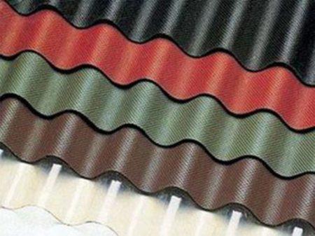 Пример листов ондулина для крыши