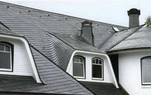 Пример сланцевого покрытия крыши дома