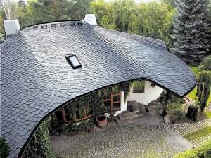 Крыша покрытая сланцем